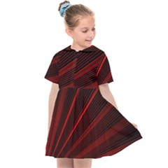 Line Geometric Red Object Tinker Kids  Sailor Dress by Mariart