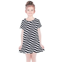 Zigzag Chevron Kids  Simple Cotton Dress