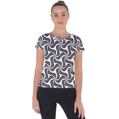 Soft Pattern Repeat Short Sleeve Sports Top  by Mariart