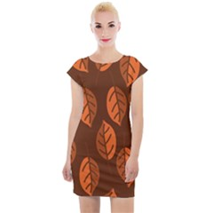 Pattern Leaf Plant Cap Sleeve Bodycon Dress by Mariart