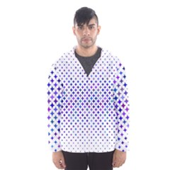 Star Curved Background Geometric Hooded Windbreaker (men)