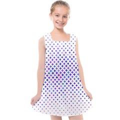 Star Curved Background Geometric Kids  Cross Back Dress by Mariart
