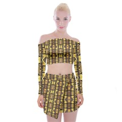 Ml 39 Off Shoulder Top With Mini Skirt Set by ArtworkByPatrick