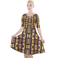Ml 39 Quarter Sleeve A Line Dress by ArtworkByPatrick