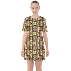 Ml 39 Sixties Short Sleeve Mini Dress by ArtworkByPatrick