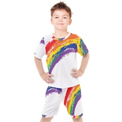 Watercolor Painting Rainbow Kid s Set by Mariart