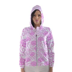 Peony Spring Flowers Hooded Windbreaker (women) by Mariart