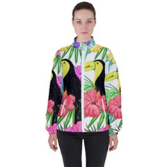 Leaves Tropical Nature Green Plan High Neck Windbreaker (women) by AnjaniArt