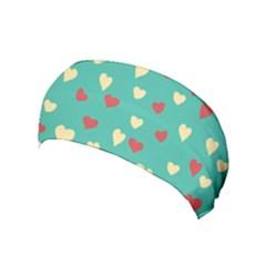 Love Heart Valentine Yoga Headband by AnjaniArt