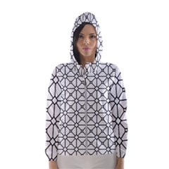 Mesh Pattern Grid Line Hooded Windbreaker (women) by AnjaniArt