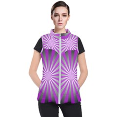 Purple Abstract Background Women s Puffer Vest
