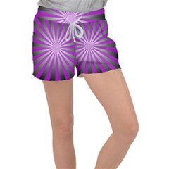 Purple Abstract Background Women s Velour Lounge Shorts by AnjaniArt