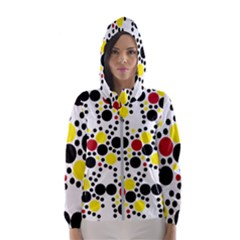 Pattern Circle Texture Hooded Windbreaker (women) by Alisyart