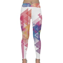 Science And Technology Triangle Classic Yoga Leggings by Alisyart