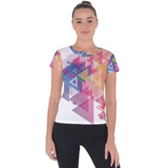 Science And Technology Triangle Short Sleeve Sports Top