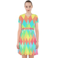 Low Poly Triangles Adorable In Chiffon Dress by Pakrebo