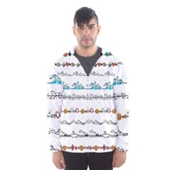 Decoration Element Style Pattern Hooded Windbreaker (men) by Pakrebo