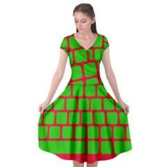 Keyboard Keys Computer Input Pc Cap Sleeve Wrap Front Dress by Pakrebo