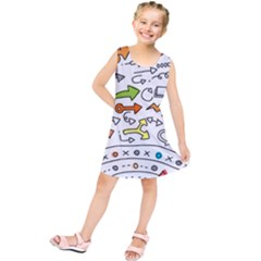 Desktop Pattern Art Graphic Design Kids  Tunic Dress