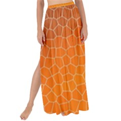 Orange Mosaic Structure Background Maxi Chiffon Tie Up Sarong by Pakrebo