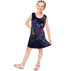 Grunge Paint Splatter Splash Ink Kids  Tunic Dress