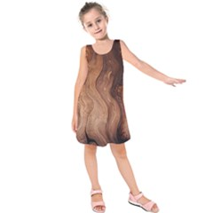 Pattern Background Structure Kids  Sleeveless Dress