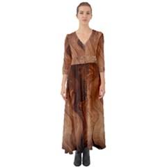 Pattern Background Structure Button Up Boho Maxi Dress