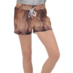 Pattern Background Structure Women s Velour Lounge Shorts by Pakrebo