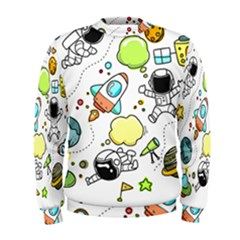 Sketch Cartoon Space Men s Sweatshirt