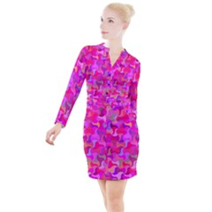 Mosaic Cute Button Long Sleeve Dress by Jojostore