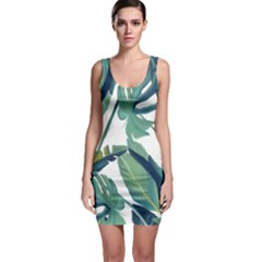 Plants Leaves Tropical Nature Bodycon Dress by Alisyart