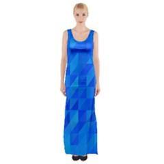 Pattern Halftone Geometric Maxi Thigh Split Dress