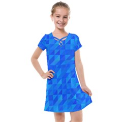Pattern Halftone Geometric Kids  Cross Web Dress by Alisyart