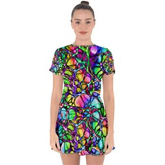 Network Nerves Drop Hem Mini Chiffon Dress by Alisyart