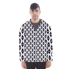 Triangle Seamless Pattern Hooded Windbreaker (men) by Alisyart