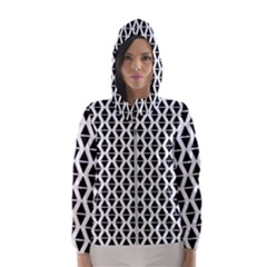 Triangle Seamless Pattern Hooded Windbreaker (women) by Alisyart
