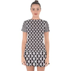 Triangle Seamless Pattern Drop Hem Mini Chiffon Dress by Alisyart