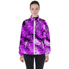 Winter Fractal  High Neck Windbreaker (women) by Fractalworld