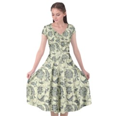 Vintage Pattern 11901a Cap Sleeve Wrap Front Dress