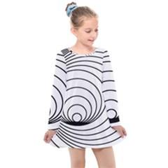 Spiral Line Kids  Long Sleeve Dress