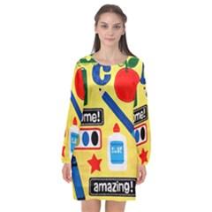 Fabric Cloth Textile Clothing Long Sleeve Chiffon Shift Dress