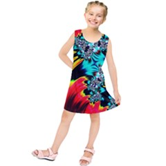 Fractal Mandelbrot Art Wallpaper Kids  Tunic Dress