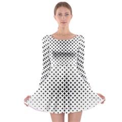 Star Curved Pattern Long Sleeve Skater Dress