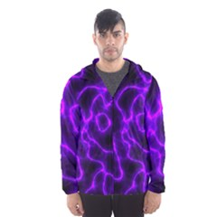 Purple Pattern Background Structure Hooded Windbreaker (men) by Pakrebo