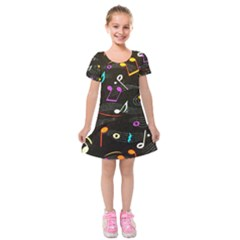 Fabric Cloth Textile Clothing Kids  Short Sleeve Velvet Dress by Pakrebo