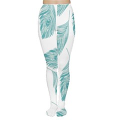 Peacock Feather Background Tights by AnjaniArt