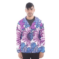 Fabric Flowers Floral Design Hooded Windbreaker (men) by Pakrebo