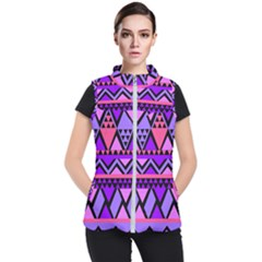 Seamless Purple Pink Pattern Women s Puffer Vest by AnjaniArt