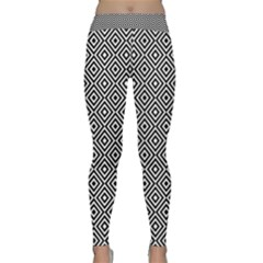 Square Diagonal Concentric Pattern Classic Yoga Leggings by AnjaniArt