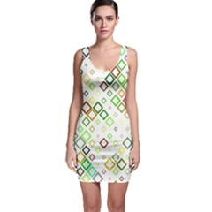 Square Colorful Geometric Style Bodycon Dress by Alisyart